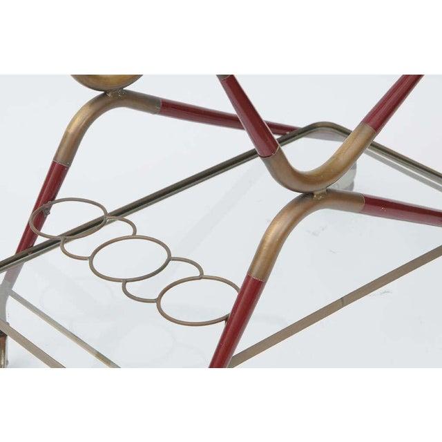 Metal Cesare Lacca Italian Bar Cart For Sale - Image 7 of 10