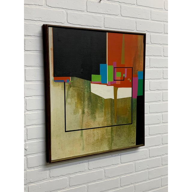 Modernist Geometric Painting, 1971 For Sale - Image 4 of 13