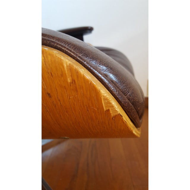 Vintage Herman Miller Eames Era Style Chocolate Selig Plycraft Lounge Chair - Image 10 of 11