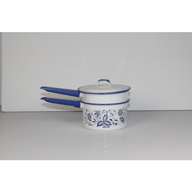 French Enamel Pot - Image 2 of 7