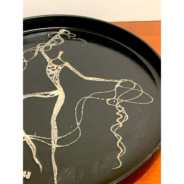 Sascha Brastoff Midcentury Sascha Brastoff Abstract Nude Circular Gallery Tray For Sale - Image 4 of 10