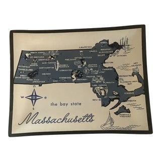 Decorative Massachusetts Glass Tray