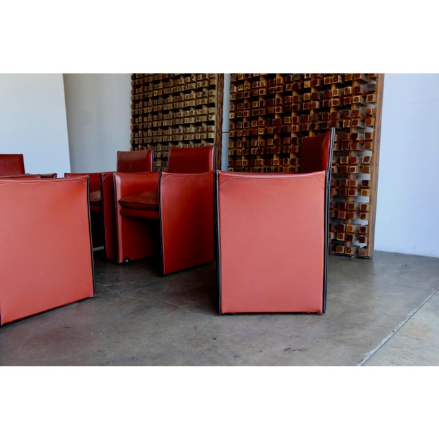 Late 20th Century Late 20th Century Mario Bellini 'Break' Armchairs - Set of 6 For Sale - Image 5 of 13