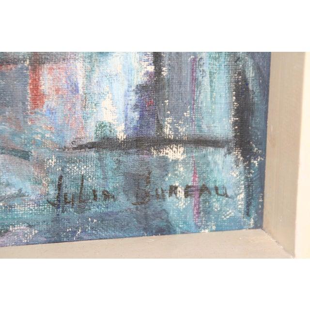 Vintage Julia Bureau Abstract Oil Painting - Image 2 of 7