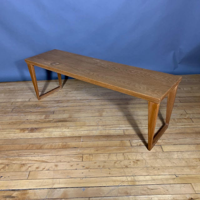 Tan Oak Hall Table by Kai Kristiansen for Aksel Kjersgaard, Denmark 1960s For Sale - Image 8 of 10