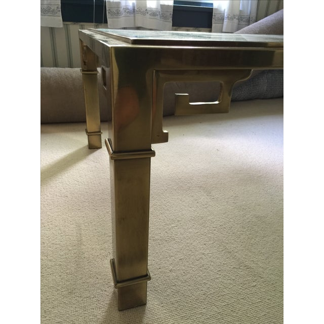 Mastercraft Brass and Glass Cocktail Table - Image 3 of 6