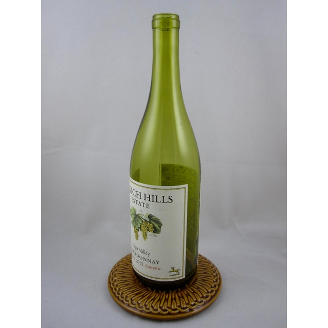 French Faïence Wine Bottle Coasters- A Pair - Image 3 of 9