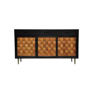 Dunbar Rosewood Woven Front Sideboard by Edward Wormley For Sale