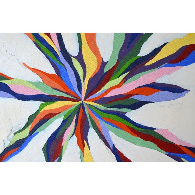 """Pastel Beams"" Abstract Painting - Image 2 of 3"