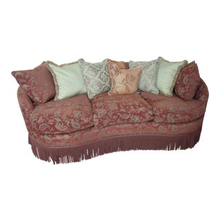 Ashley Bean-Shaped 3-Cushion Sofa With Custom Pillows