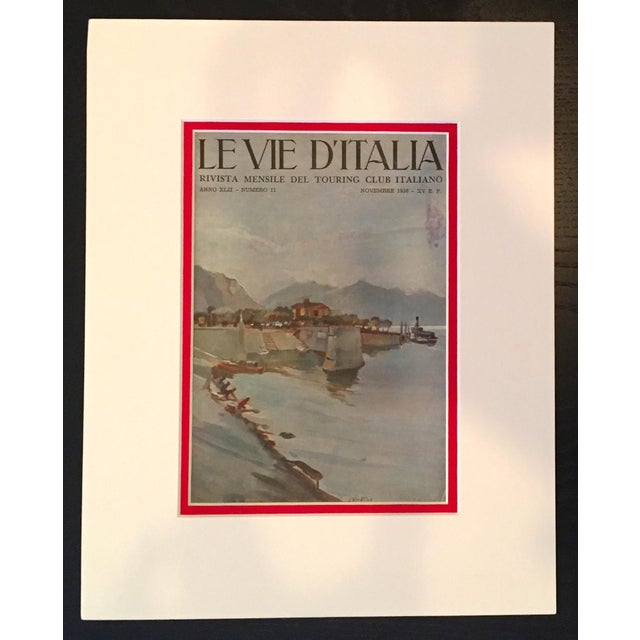 About The Poster: Printed in 1936 and advertising the monthly magazine of the Italian touring club, this serene view of a...