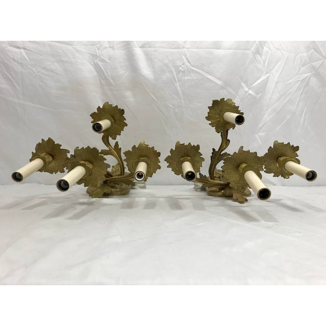 19th Century Louis XVI Style Sconces a Pair For Sale - Image 4 of 9
