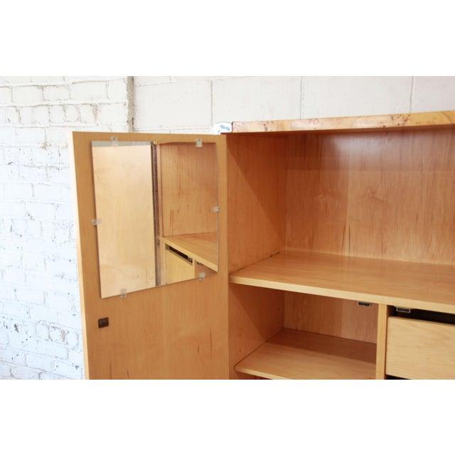 Leon Rosen for Pace Burled Olive Wood and Chrome Wardrobe Dresser - Image 8 of 13