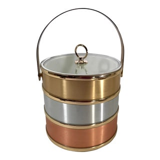 Vintage Tri Color Ice Bucket For Sale