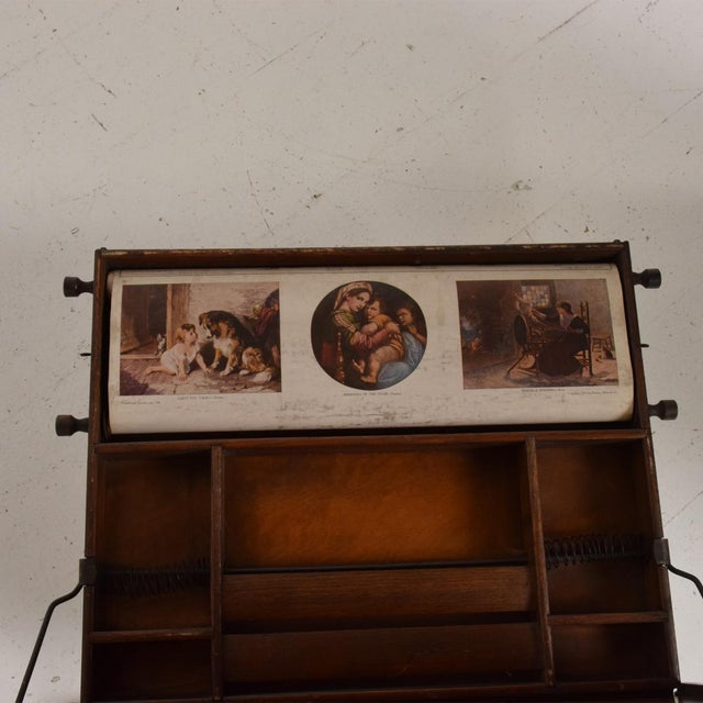 Antique Chautauqua Industrial Art Desk Lewis E. Myers & Company For Sale - Image 9 of 11