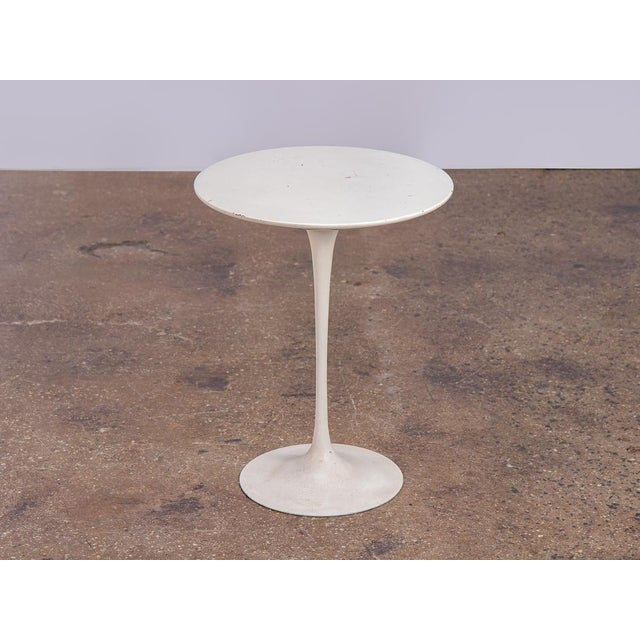 White Eero Saarinen White Tulip Side Table for Knoll For Sale - Image 8 of 8