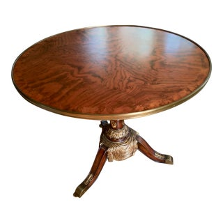 Traditional Theodore Alexander Center Hall Table For Sale