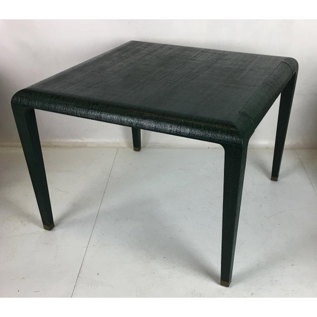 Modern Exceptional Raffia Clad Games Table by Harrison Van Horn For Sale - Image 3 of 12
