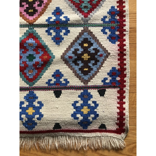 Tribal 1990s Multi-Colored Wool Rug - 2′2″ × 4′9″ For Sale - Image 3 of 6