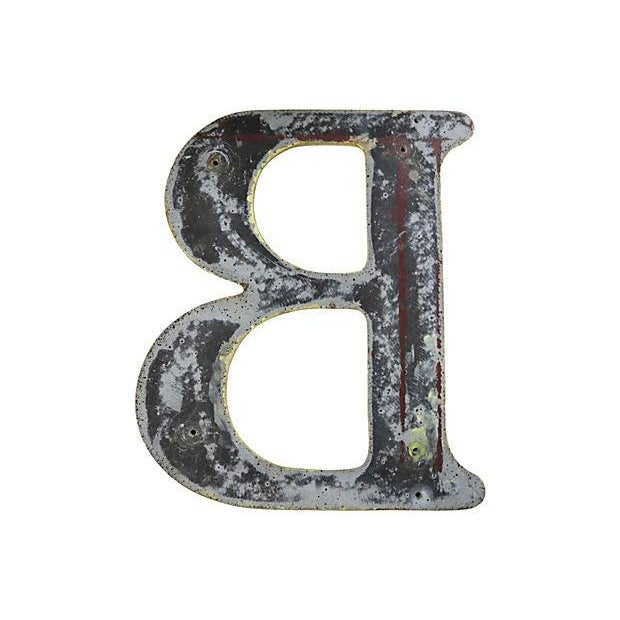 "Vintage English Pub Sign Letter "" B "" - Image 2 of 2"