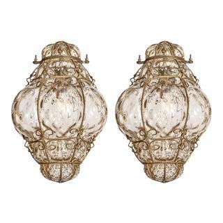 Vintage Venetian Lanterns - a Pair For Sale