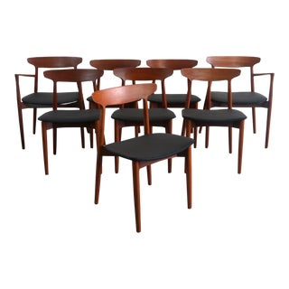 Teak Dining Chairs by Harry Ostergaard for Randers Møbelfabrik (Set of 8) For Sale