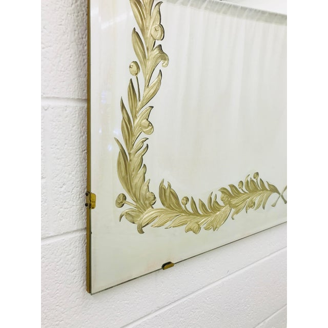 Antique Art Deco Gold Foil Mirror For Sale In Raleigh - Image 6 of 13