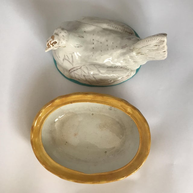 White Staffordshire Hen on Nest Tureen For Sale - Image 5 of 11