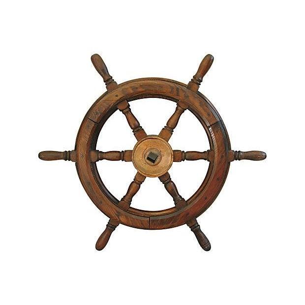 Vintage Mahogany Nautical Ship's Wheel - Image 4 of 4