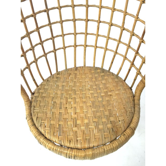 Rohe Noordwolde 1960s Rohe Cane Hanging Chair For Sale - Image 4 of 5