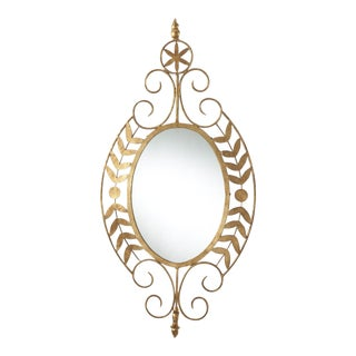 Small Gold Leaves Mirror For Sale