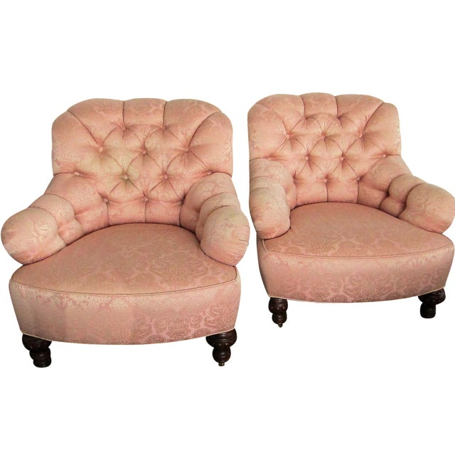 Vintage Baker Lounge Tub Chairs - A Pair - Image 1 of 6