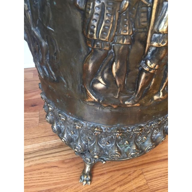20th Century Gothic Revival Brass Umbrella Stand For Sale - Image 6 of 7
