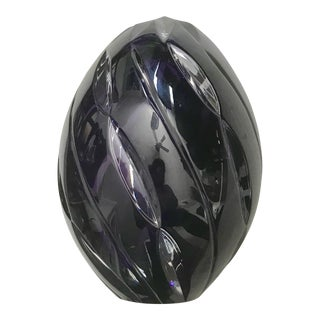 Amethyst / Purple Crystal Hand Cut Egg Paper Weight For Sale