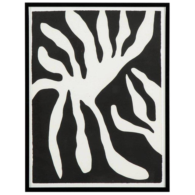 1960s Abstract Scree Print of Leaf Form by William Turnbul For Sale