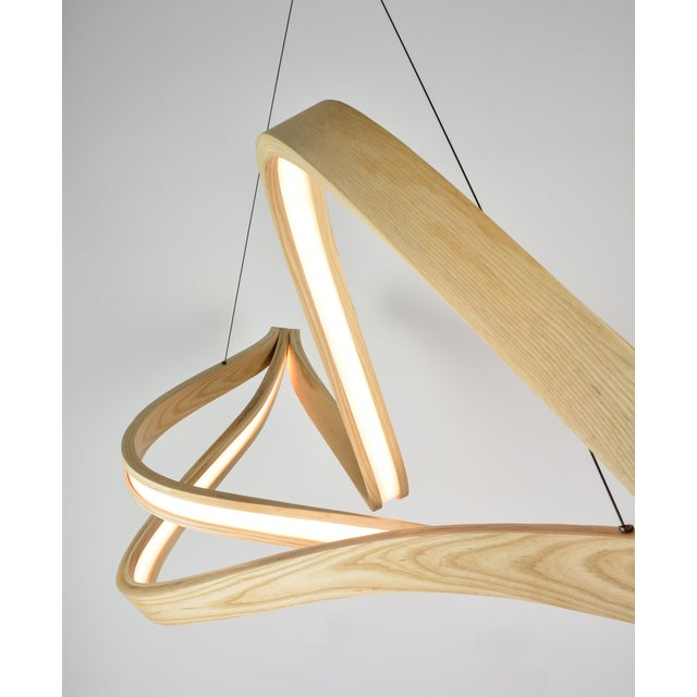 OVUUD Tangle Curved Wooden Pendant Light With Intertangled Arms For Sale - Image 4 of 7