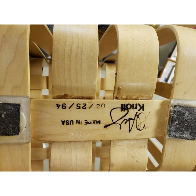 Wood High Sticking High Back Chair by Frank Gehry for Knoll - A Pair For Sale - Image 7 of 8