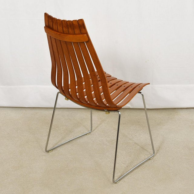 """Mid 20th Century Set of 8 Norwegian Modern """"Scandia"""" Teak Dining Chairs by Hans Brattrud For Sale - Image 5 of 8"""