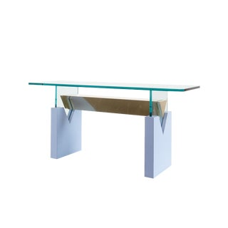Modern Brass and Glass Console Table For Sale