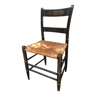 Hand Painted Antique Chair For Sale