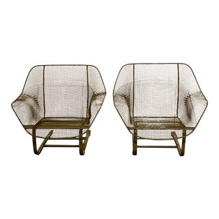 Two Pairs Russell Woodard Sculptura Rocker Arm Chairs For Sale