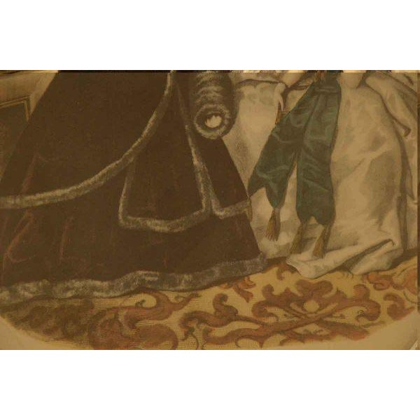 Framed Oval Victorian Print For Sale - Image 5 of 6