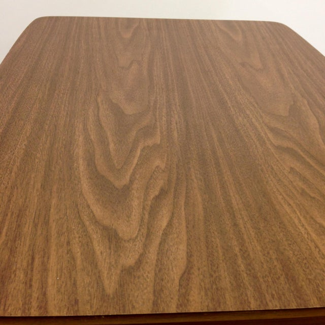 Mid-Century Woven Front & Formica End Table - Image 6 of 7