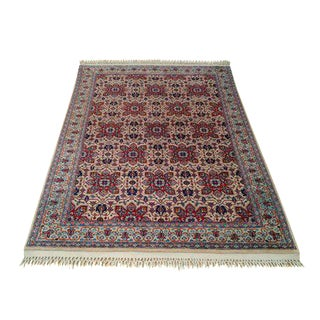 Persian Kashan Hand-Knotted Rug - 4′7″ × 6′8″ - Size Cat. 4x6 5x7 For Sale
