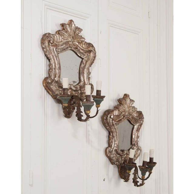 18th Century Italian Silver Gilt Venetian Sconces - a Pair For Sale - Image 4 of 11