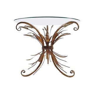 Gilt Wheat Sheaf Accent Table For Sale