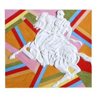 "Sandro Chia, ""Palio WeiB (Warrior on Horse)"", Pop Art Porcelain For Sale"