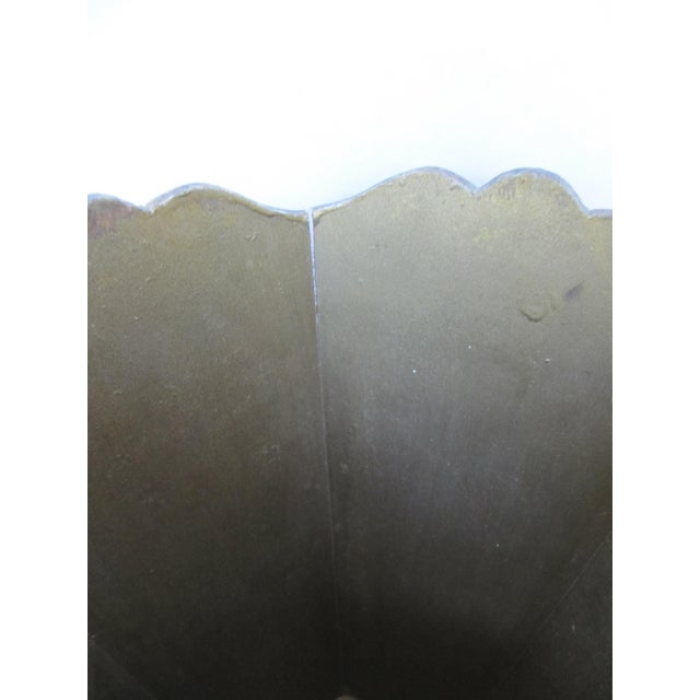 Italian Gold Florentina Wood Wastebasket For Sale - Image 3 of 4