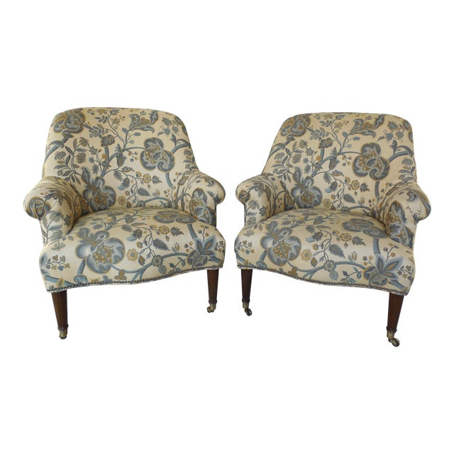 Kravet Furniture Regency Style Accent Club Chairs - A Pair - Image 1 of 11