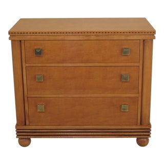 Hickory White Regency Satinwood 3 Drawer Chest Dresser For Sale